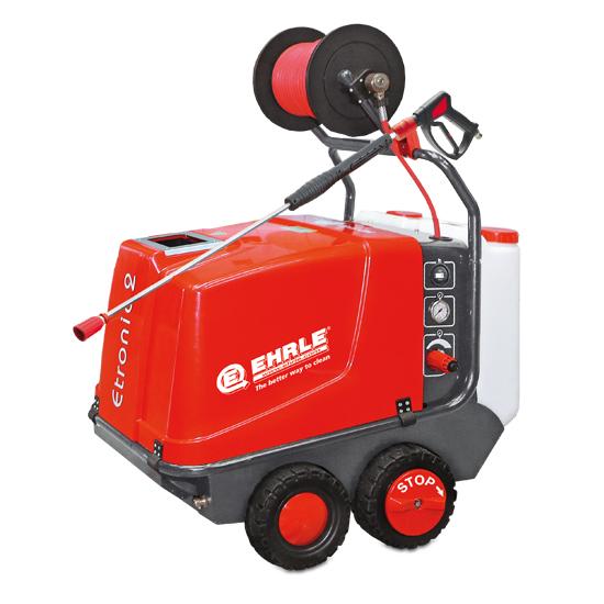 Vysokotlaký horkovodní čistící stroj - EHRLE HD 640 s bubnem a 20m hadicí
