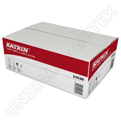 Papírové skládané utěrky bílé - KATRIN Classic Zig Zag 23530, fotografie 1/1