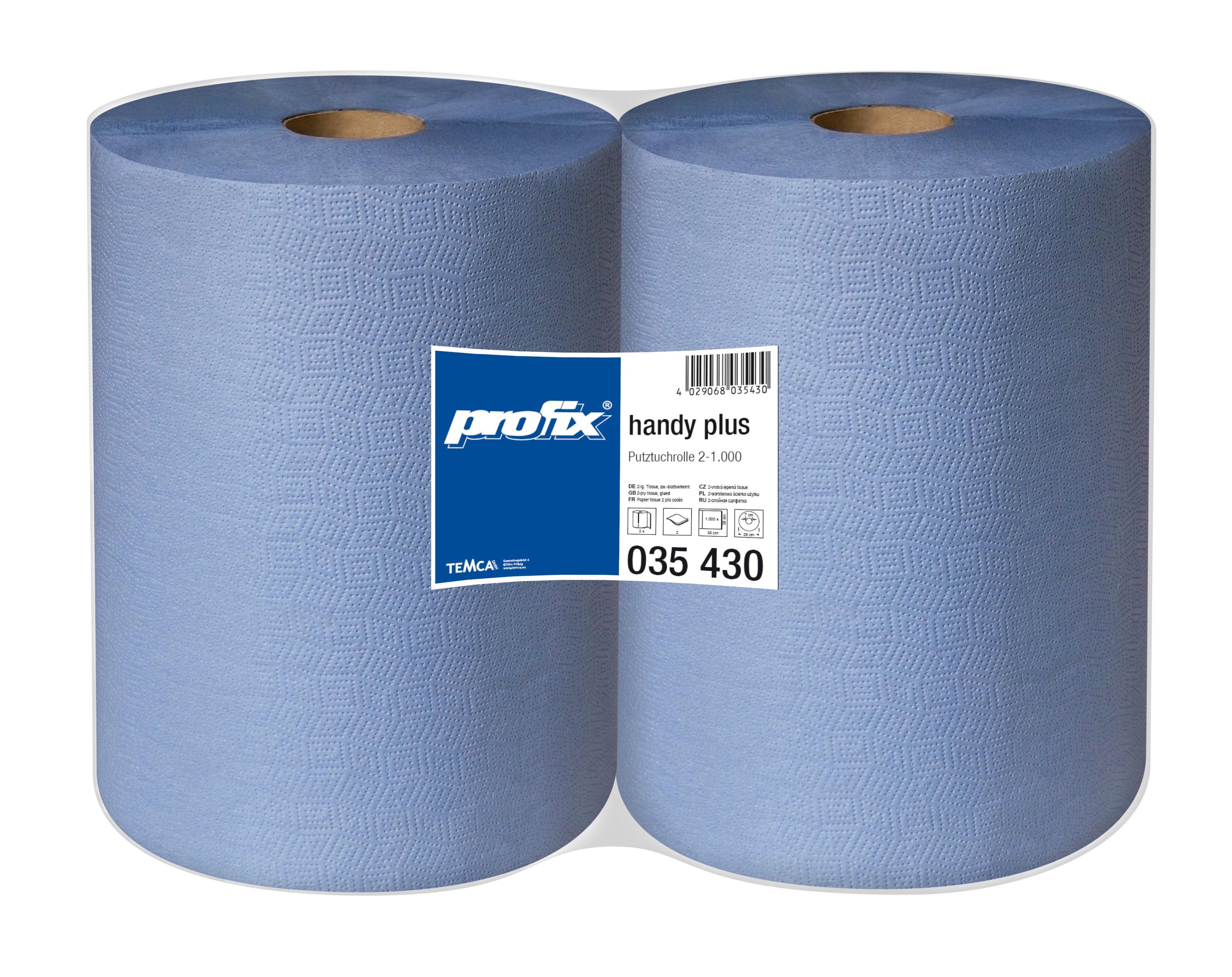 Papírové utěrky v roli - T035430, 2-vrstvé, 38 x 36 cm