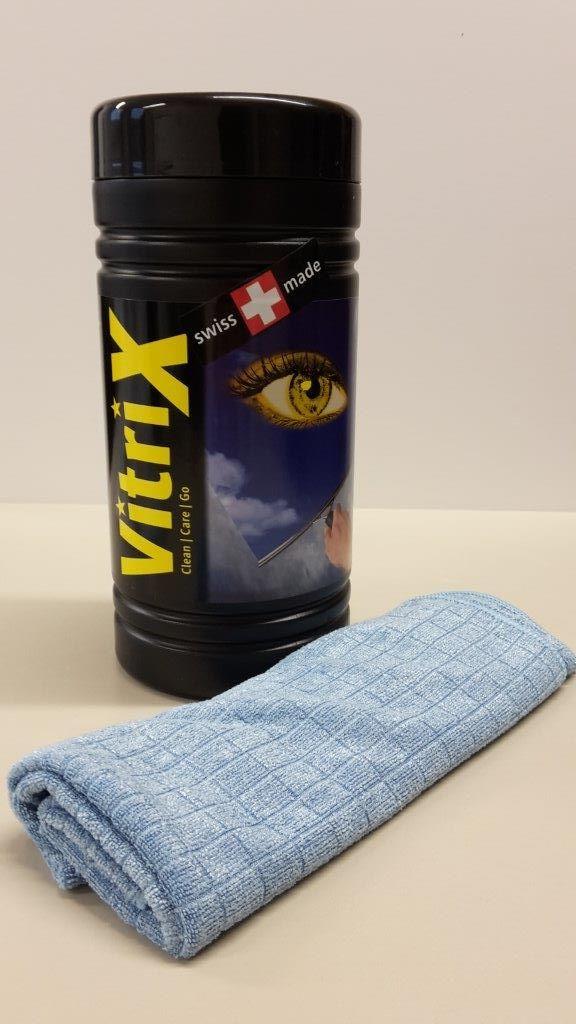 Čistící utěrky v praktickém boxu Amstutz Vitri X