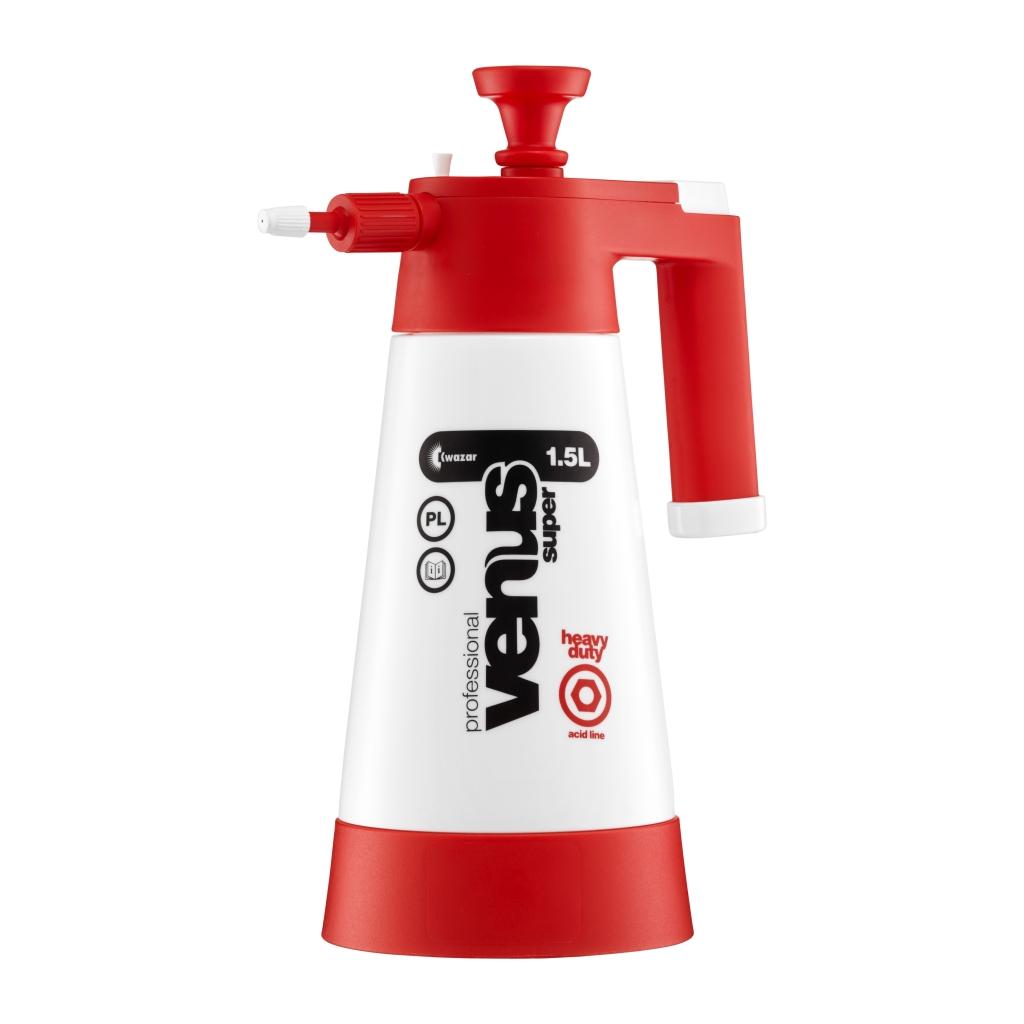 Tlakový postřikovač Kwazar VENUS červený 1,5l pro kyselé výrobky 202-6030-01-0200