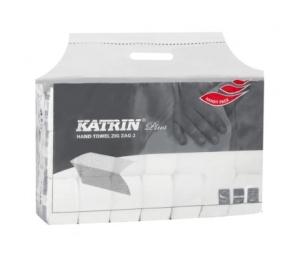 Papírové ručníky skládané Katrin Plus ZZ II.vrst.utěrky bílá buničina 100645