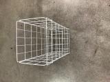 Koš odpadní Nordvlies bílý kovový sklopný 098430, fotografie 1/1