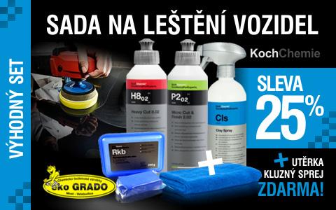Sada na leštění vozidel Koch 3+2 výrobky ZDARMA