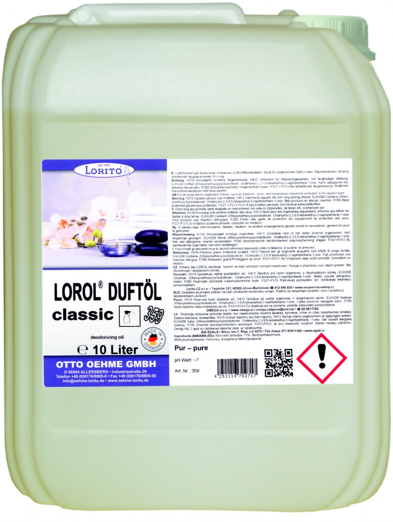Osvěžovač vzduchu Oehme Lorol 359 10 l