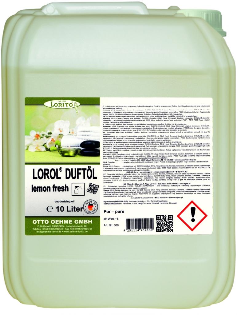 Osvěžovač vzduchu - LOROL LEMON 380 10 l