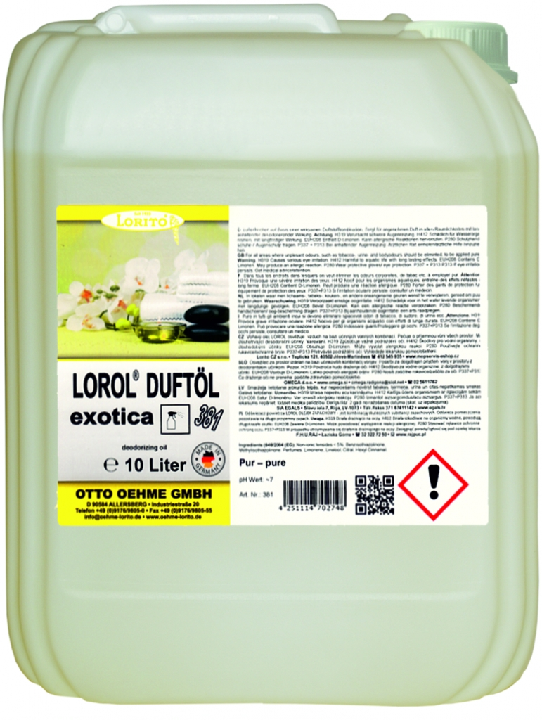 Osvěžovač vzduchu - LOROL EXOTIC 381 10 l