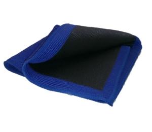 Mikroleštící utěrka Amstutz modro-černá, pogumovaná 5149