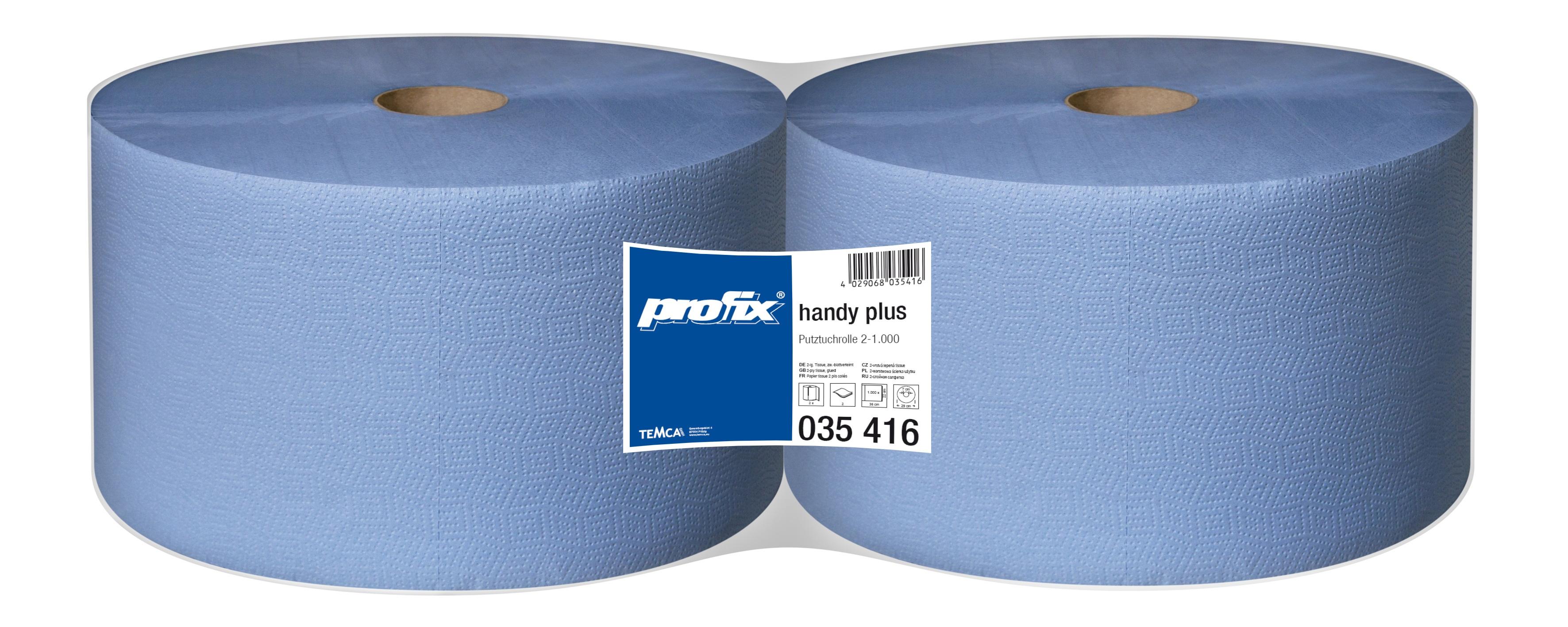 Papírové utěrky v roli - T035416, 2-vrstvé, 22 x 36 cm