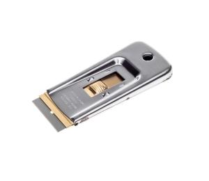 Škrabka kovová s žiletkou na odstraňování etiket Koch 999091