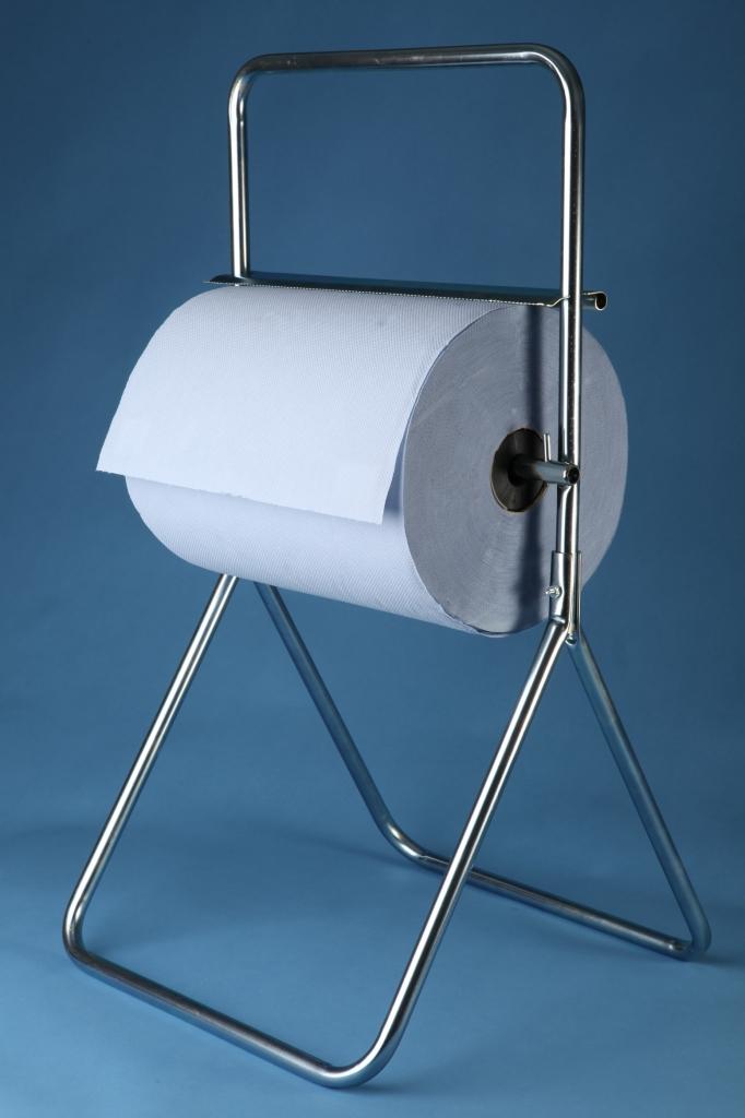 VÝPRODEJ - Stojan podlahový na role papíru chromový - 0969, šíře 40 cm