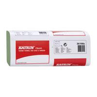 Papírové skládané ručníky - KATRIN 61717 zelené